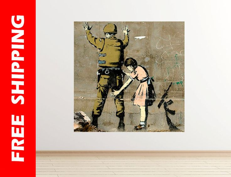 War Banksy wall sticker army soldier wall decal graffiti art banksy print graffiti street art Banksy wall art poster art by Banksy 49 square by WallDecalsShop on Etsy https://www.etsy.com/listing/251154493/war-banksy-wall-sticker-army-soldier
