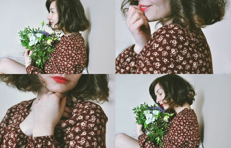 woman, flowers, spring