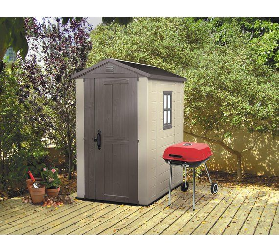 Buy Keter Apex Plastic Garden Shed - 4 x 6ft at Argos.co.uk, visit Argos.co.uk to shop online for Sheds, Sheds and bases, Conservatories, sheds and greenhouses, Home and garden
