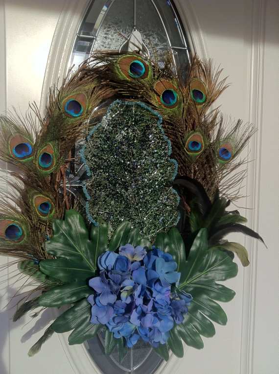 17 Best Images About Feather Wreaths On Pinterest
