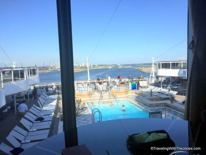 view from the Tamarind Restaurant, Koningsdam, Holland America Line