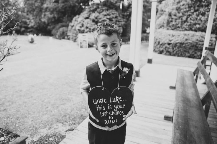 Page boy. Ring bearer. Cute wedding signs. Photography by Candy Capco Photography, Wellington, New Zealand