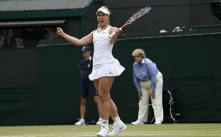 Sealed with a smile: Last year's runner-up Sabine Lisicki celebrates defeating Ana Ivanovic in the third round