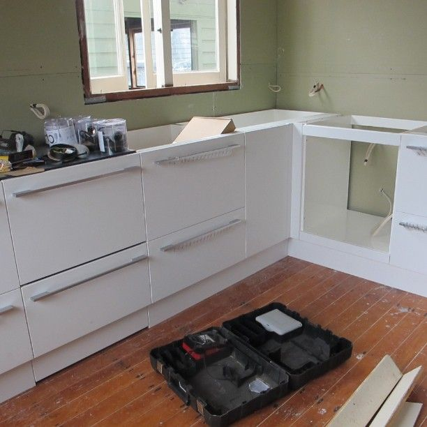 The beginnings of a new kitchen! #WaihiBeach #Bach
