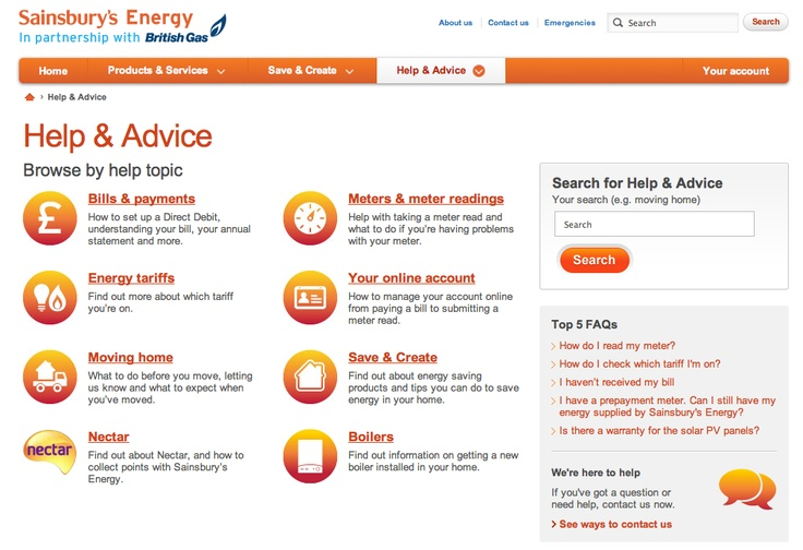 Good example of a Help Page IA