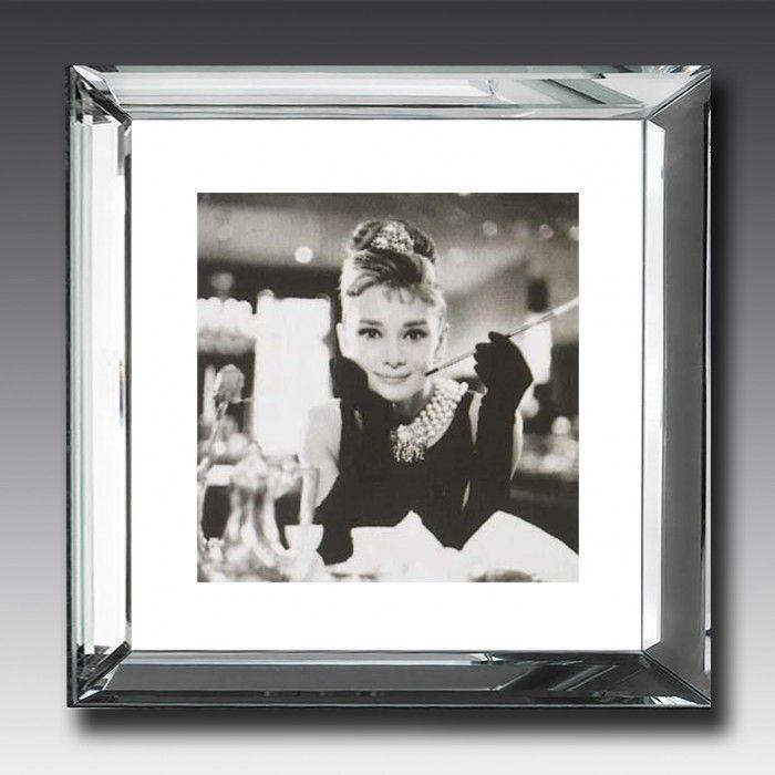 Audrey Hepburn mirrored frame
