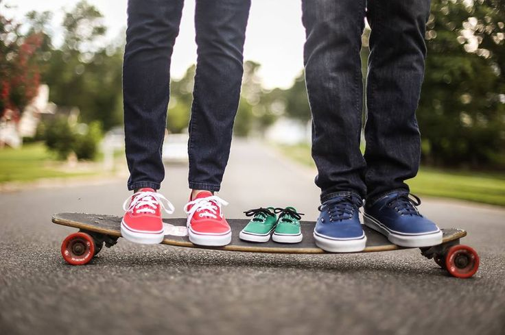 """Pregnancy/Baby Announcement, """"Baby on Board"""" skateboard, longboard, baby, pregnancy, announcement, Vans"""