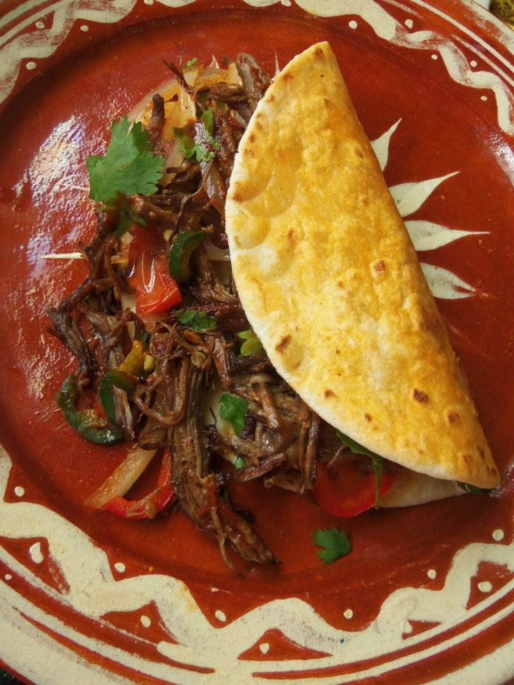 Beef Machaca - Hispanic Kitchen  [ MexicanConnexionForTile.com ] #food #Talavera #handmade