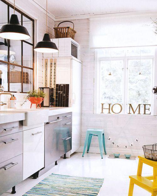 pendant lightsMirrors, Home Signs, Scandinavian Interiors, Colors, Scandinavian Kitchen, Interiors Design, Windows, Vintage Interiors, Modern Kitchens