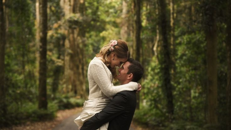 Newly Weds in the Forest