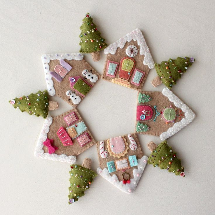 Felt Gingerbread Houses
