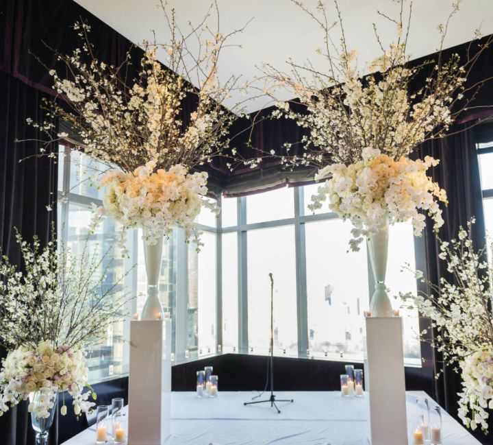 To see more stunning wedding ceremony ideas: http://www.modwedding.com/2014/11/21/swooning-gorgeous-wedding-ceremony-inspiration/ #wedding #weddings #wedding_ceremony  Featured Floral Design: Tantawan Bloom