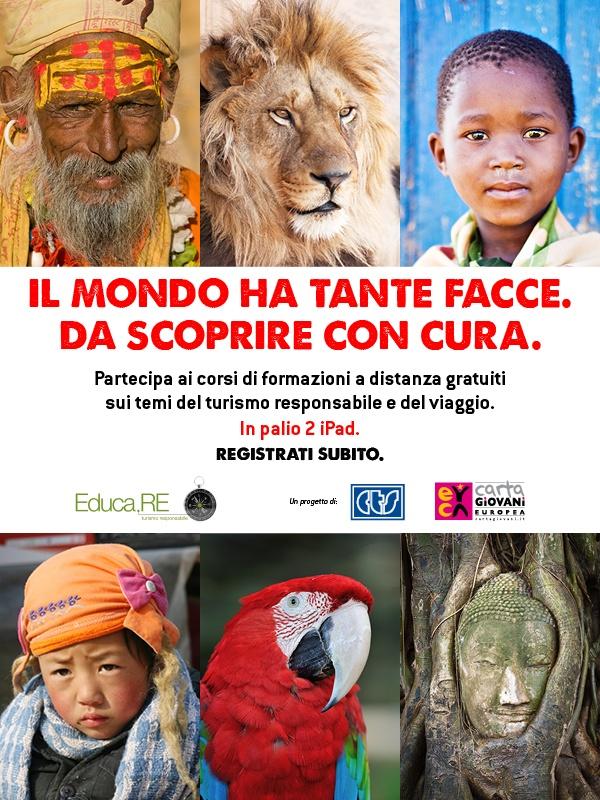 E-learning su turismo responsabile e viaggio con il Progetto Educa.RE di Carta Giovani e CTS  www.educaresponsabile.it