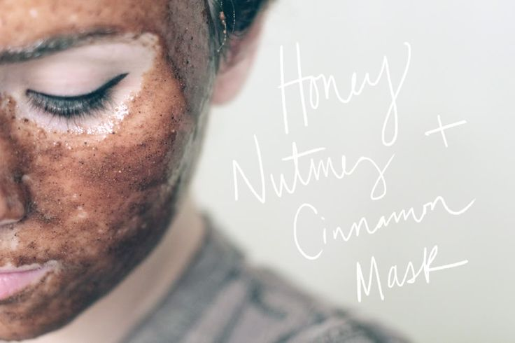 Honey Nutmeg Cinnamon Facial Mask: Mix everything together into a thick paste and then apply away!  Let it sit for 30 minutes and then wash it off with warm water while scrubbing gently in circles, to exfoliate. Nutmeg and honey can reduce swelling and redness in your skin, as well as soothe acne scars and prevent infection.
