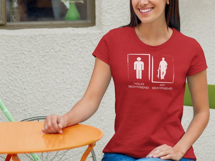 My BF is cooler than yours!   #Tshirt #myboyfriend #womanT-shirt #sk8 #skateboarder #coolboyfriend