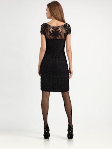 Outstanding Crochet: Ralph Lauren. Crochet black little dress.