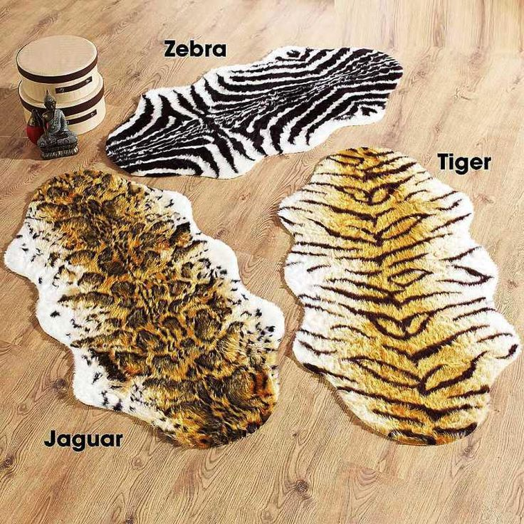 Animal Faux Fur Rug   Super Soft Faux Fur Animal Skin Rugs In Strong  Colours To Give A Dramatic Fun Look. Slip Resistant Backing For Additional  Safety On ...