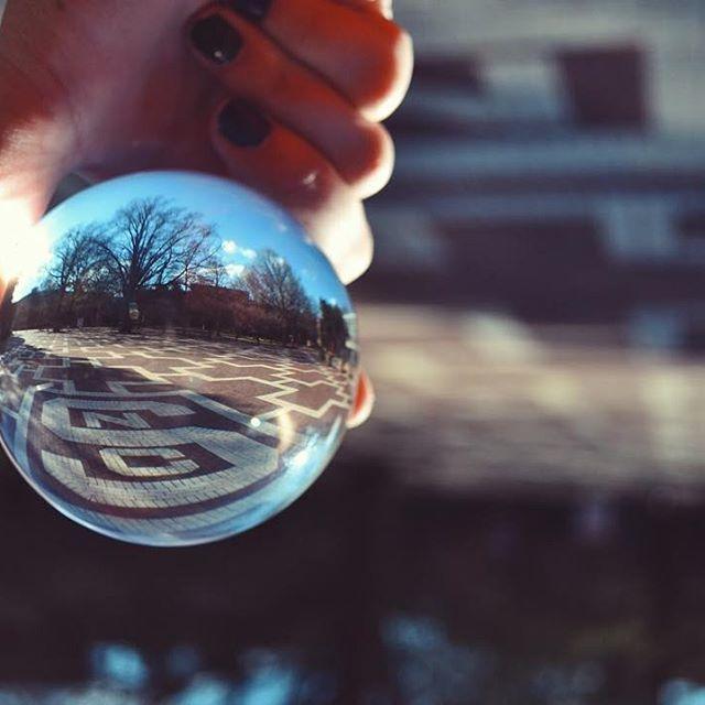 The Brickyard as seen through a crystal ball.