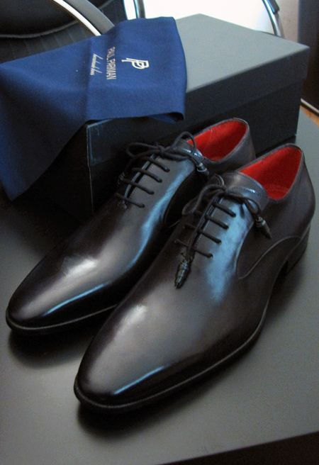 Paul Parkman Men's Black Oxfords: