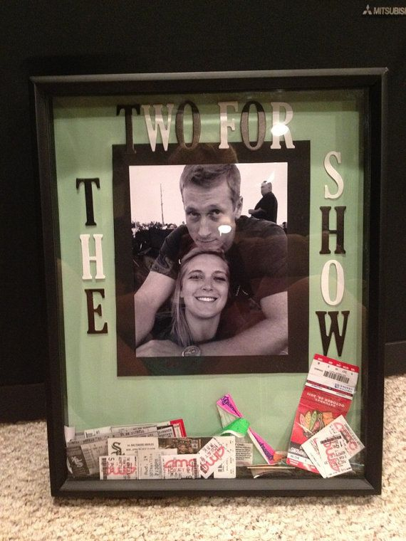 Ticket Box totally making this myself! I have every movie ticket Jeff & I have been to as a couple :) cute idea