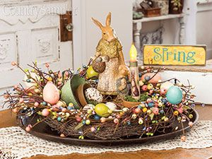 Set Up A Sweet Spring Centerpiece On Table Or Kitchen Island