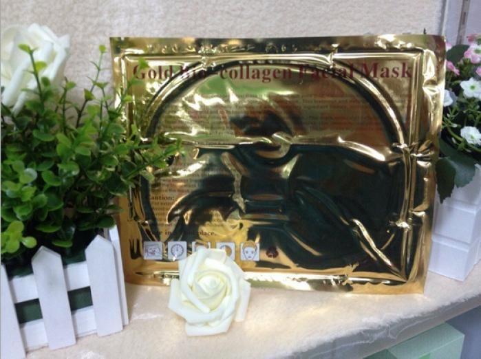 Новое по уходу за кожей золота био-коллаген маска для лица кристалл порошка золота коллаген маска увлажняющий омолаживающий отбеливающая