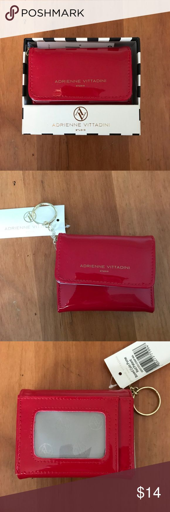 Adrienne Vittadini Apple red mini wallet Adrienne Vittadini Apple red mini wallet NWT. Brand new beautiful wallet let me know if you're interested. Comes with tags on and box. Makes for a great gift! Adrienne Vittadini Bags Wallets