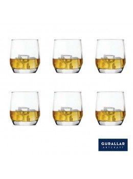 Buy Gurallar 6Pc Glass Tumbler Lal 250 Ml-258004 online at happyroar.com