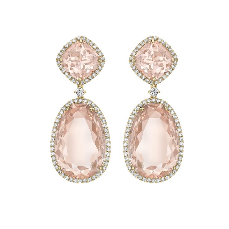 Kiki Mcdonough Lola Diamond Double-Circle Drop Earrings QZtHkcG6f