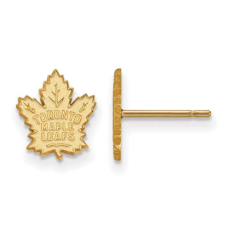 10ky NHL LogoArt Toronto Maple Leafs XS Post Earrings