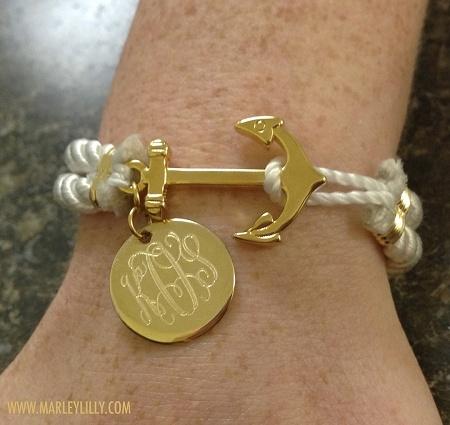Monogrammed Nautical Bracelet | Anchor Gifts | Marley Lilly TheOriginalPrep