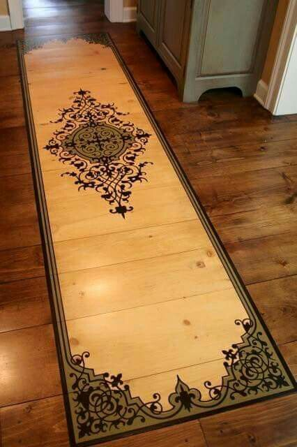 25 best ideas about stencil rug on pinterest stencil for Mural art on wood