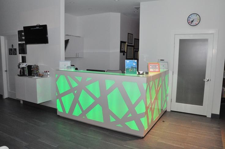 light up reception desk at Preminger pediatric dentistry