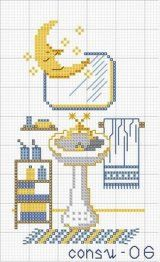 1000 images about counted cross stitch bath on pinterest for Bathroom cross stitch patterns free