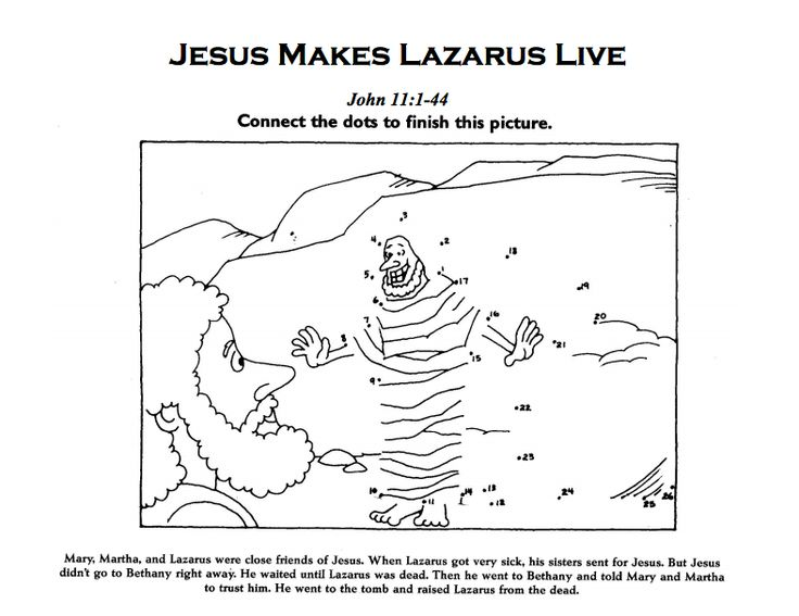 57 best lazarus raised images on pinterest bible crafts for Jesus brings lazarus back to life coloring page