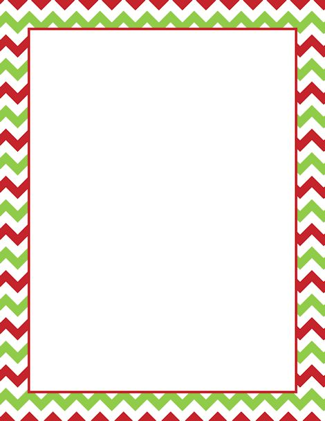 Printable Christmas chevron border. Free GIF, JPG, PDF, and PNG downloads at http://pageborders ...