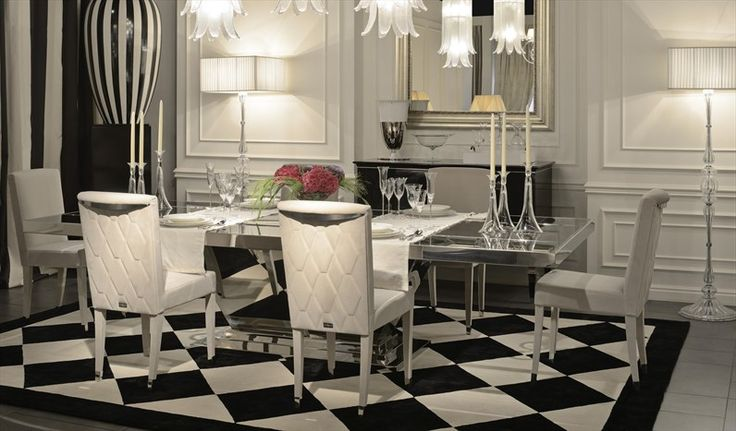 HERITAGE INTERIORS Hall dining table and Diamond chairs