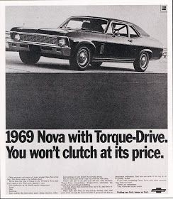 This is a really fine headline and copy for the newly restyled Nova. It looked a lot less like an economy car and offered lots that other c...