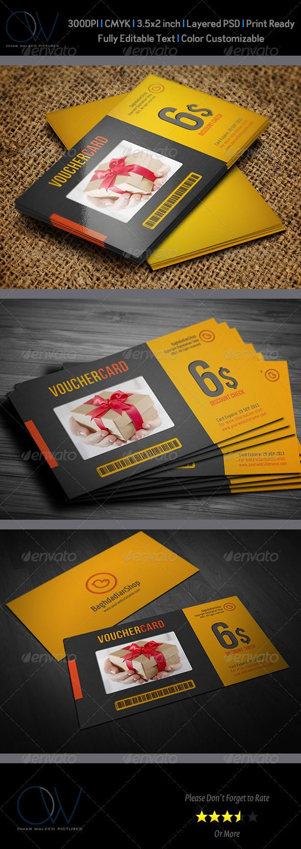 Gift / Voucher Card Template PSD   Buy and Download: http://graphicriver.net/item/gift-voucher-card-vol-2/3691337?WT.ac=category_thumb&WT.z_author=omar_almudaries&ref=ksioks