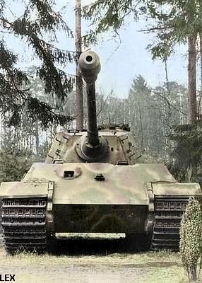 Tiger II close-up (col.)