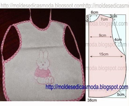 Ideas para el hogar: Baberos molde de costura incluye dos modelos