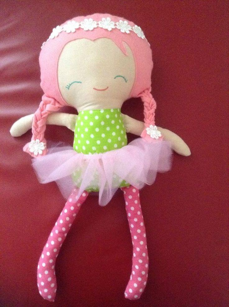 Elsa inspired Doll frozen Handmade rag doll