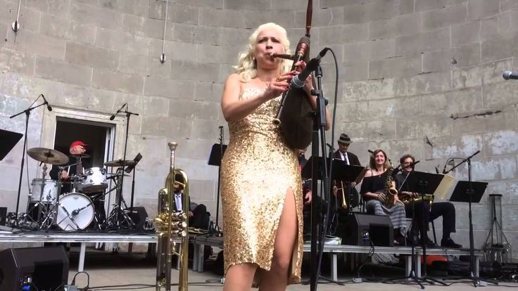 Bag pipe swing with Gunhild Carling in Central Park NY