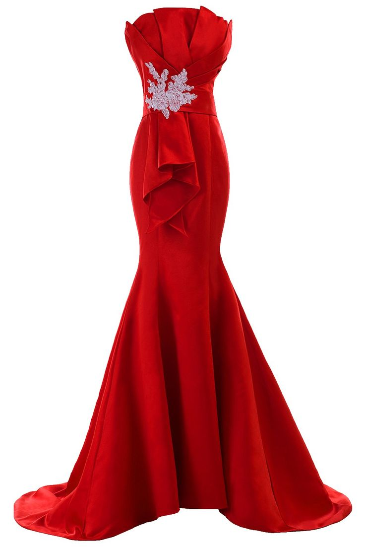 Sunvary Fancy Sheath Mermaid Satin Evening Prom Gowns for ...