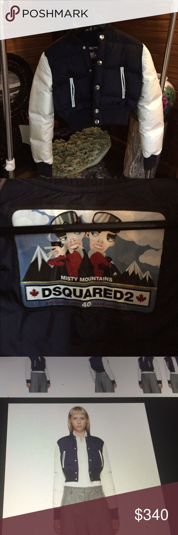 Ddqaured2 Down bomber in size 4 Completely new DSQUARED Jackets & Coats Puffers