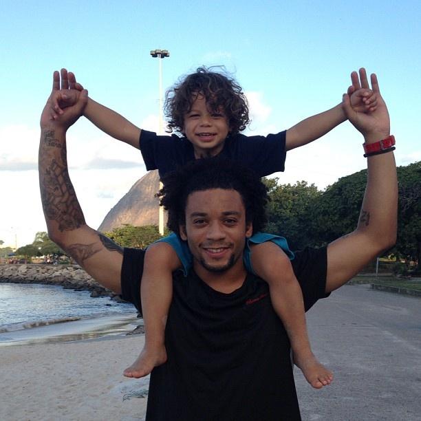 Marcelo & son, Enzo!