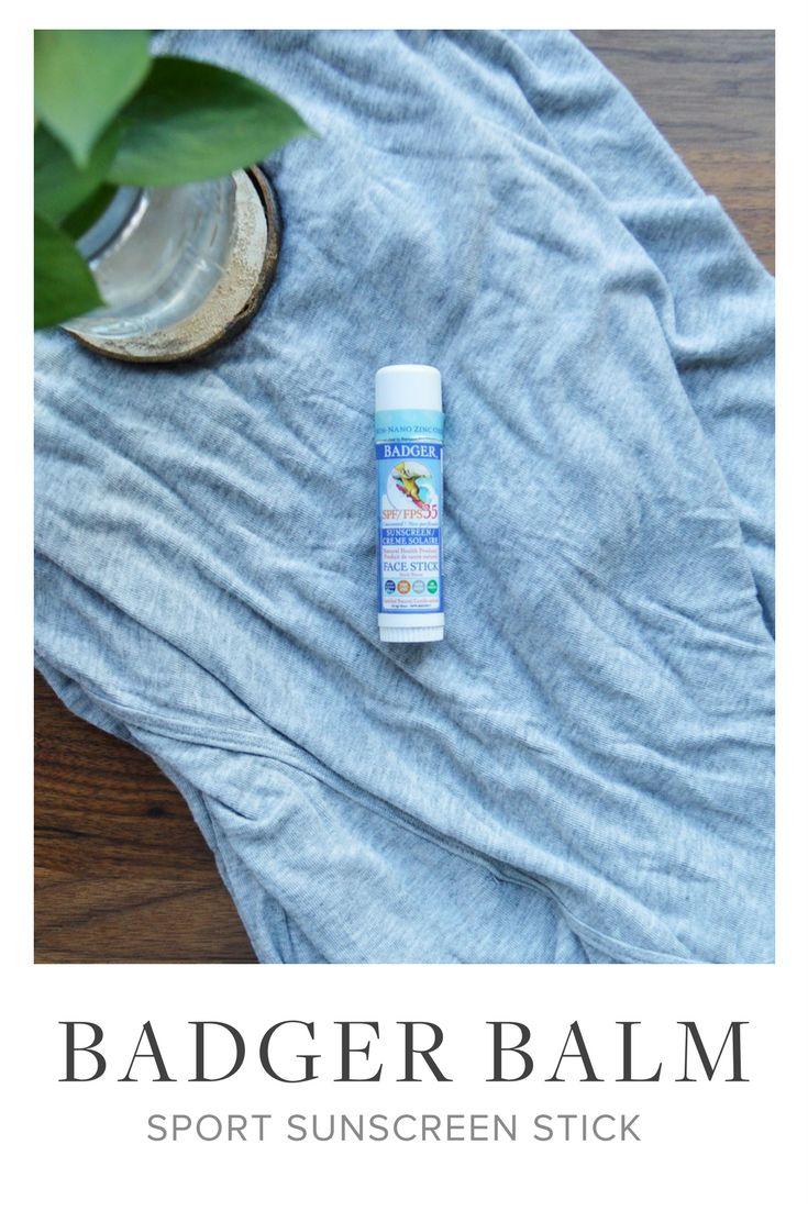 Badger Balm Sport Sunscreen Stick | Green Beauty | Green Beauty Products | Natural Beauty | Natural Beauty Products | Beauty Tips | Skincare Tips | Skincare |