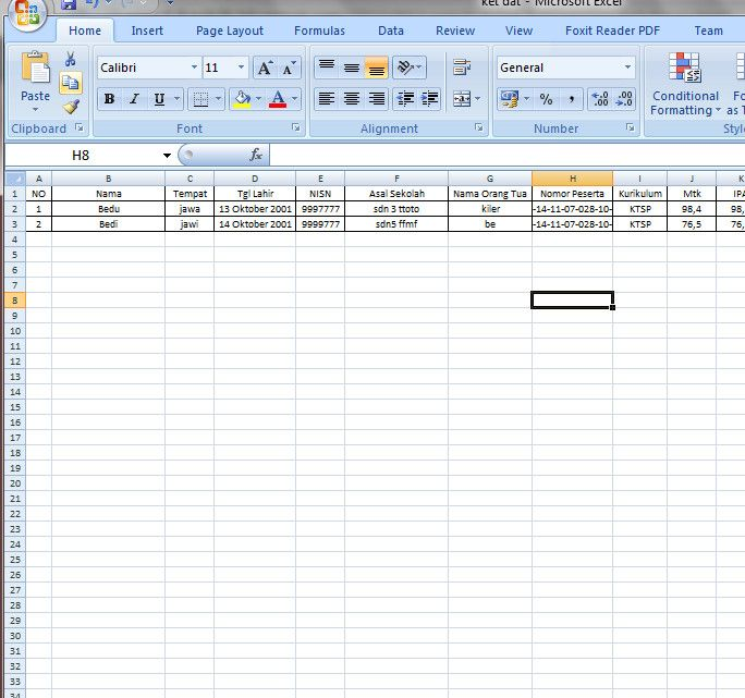 [EXCEL OPS] APLIKASI SURAT KELULUSAN SISWA DENGAN MAIL MERGE SISTEM [Excel dan Word] [.xls]