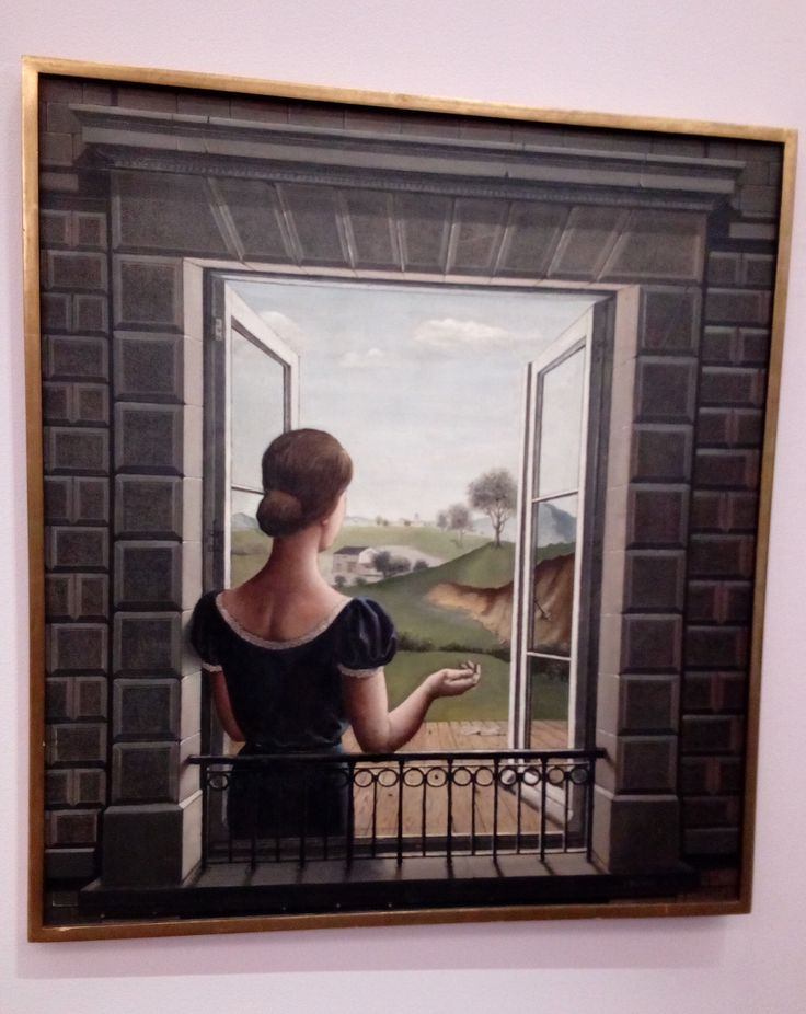 Paul Delvaux The Window   Kunsthal Rotterdam 9-11-2017