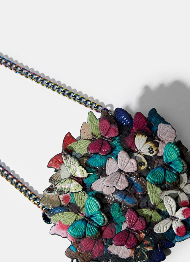Bandolera redonda con mariposas - Para ella | Adolfo Dominguez shop online